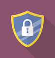 Protective shield flat icon vector image