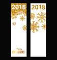 set of festive vertical banners vector image