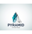Pyramid logo business branding icon vector image
