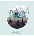 Drilling rig at sea Oil platform gas fuel vector image