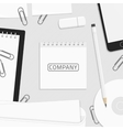 Corporate identity template for logo vector image