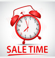 sale promotion with alarm clock vector image