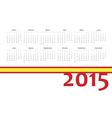 Spanish 2015 year calendar vector image