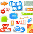 set of sale elements vector image vector image