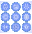 Winter Snow Labels vector image