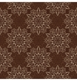 Seamless Mandala Pattern over dark brown vector image