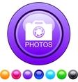 Photos circle button vector image