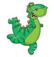 hurry dinosaur vector image vector image