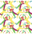 clowns seamless pattern background vector image