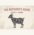 cut of meat set poster butcher diagram scheme - vector image