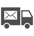 Mail Delivery Van Icon Rubber Stamp vector image