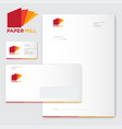 paper mill logo factory identity vector image