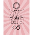 Pink wedding background with words Save the date vector image