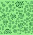 seamless light green flower mandala for print on vector image