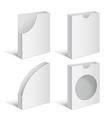Set folders holders vector image