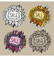 Set of Sale Nature Labels vector image