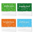 Set of seasonal posters for discounts vector image