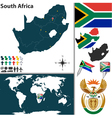 South Africa map world vector image
