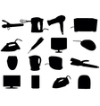 Home Appliance Silhouettes vector image vector image