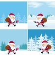 Santa Claus in forest set vector image vector image