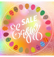 easter egg sale banner background template 31 vector image