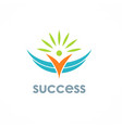 success people logo vector image