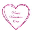 Purple Scribble Hand Drawn Heart logo vector image
