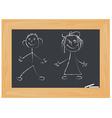 children on white board vector image