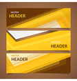 orange headers vector image