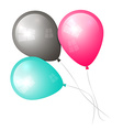 Balloons Isolated on White vector image vector image