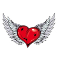 heart with wings icon vector image vector image