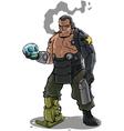 Cyborg vector image