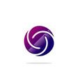 circle twist abstract logo vector image