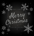 merry christmas banner with silver glittering vector image