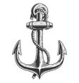Old vintage anchor vector image