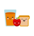 juice fruit kawaii character isolated icon vector image