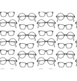 Set of fashionable glasses silhouettes vector image vector image