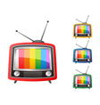 color retro tv vector image