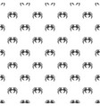 snow crab pattern vector image