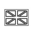 flag united kingdom black color icon vector image