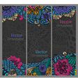 Set of cards with patterns vector image
