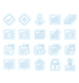 Application Programming Server and computer icon vector image vector image