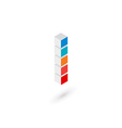3d cube letter I logo icon design template vector image