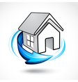 house icon with arrow vector image