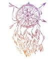 Hand drawn of dream catcher native vector image