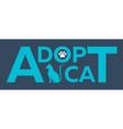 adopt logo dont shop adopt cat adoption concept vector image