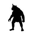 cyclops silhouette monster villain fantasy vector image