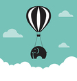 image of elephant with balloons vector image