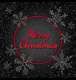 merry christmas banner with silver glitter vector image