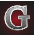 Metal letters g vector image
